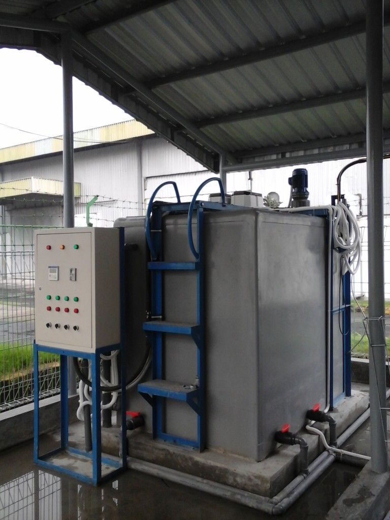 1. IPAL MAXIBIOREAKTOR di PT DUPONT, dengan mixer sbg koagulator